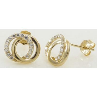 Boucles d'oreilles Or 9 Carats - Double Cercle -