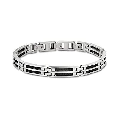 Bracelet Lotus LS1800-2/1 - Acier et Câble Noir -