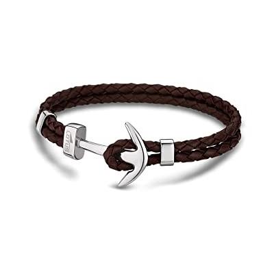 Bracelet Lotus LS1832-2/5 - Ancre Marine Acier et Cuir -