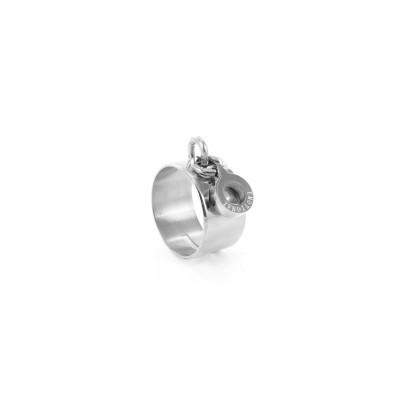 Bague acier Emotional avec Pampille anneau