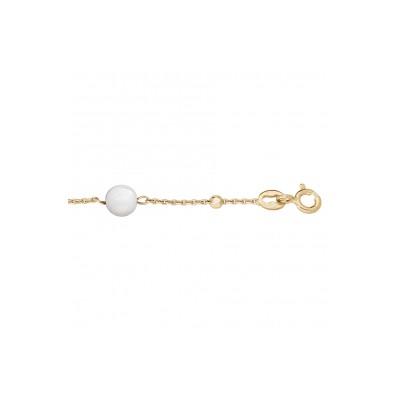 Bracelet plaqué or - Boules Pierres de Lune -