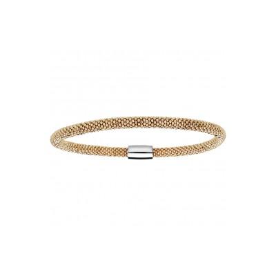 Bracelet argent - Maille fantaisie - Gold -