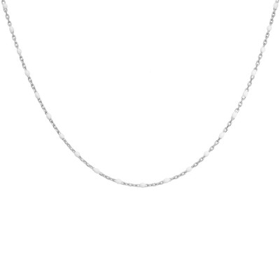 Collier Argent - Mode - Olives blanches -