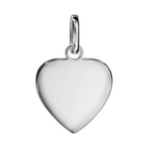 Pendentif Argent - Coeur à Graver -