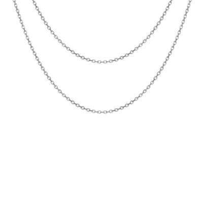 Collier Argent - Double Chaîne -
