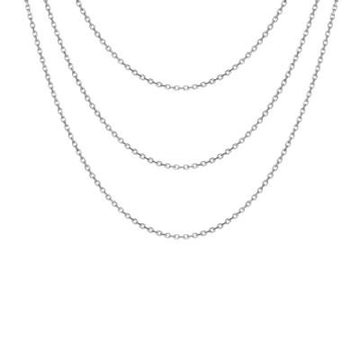 Collier argent - Triple chaîne -