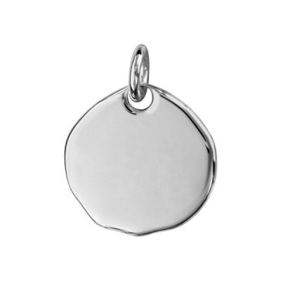 Pendentif Argent - Galet - Petit Modèle - Diamètre 21mm - A graver -