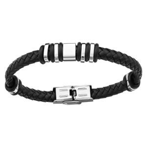 Bracelet Acier et Caoutchouc - Mode -