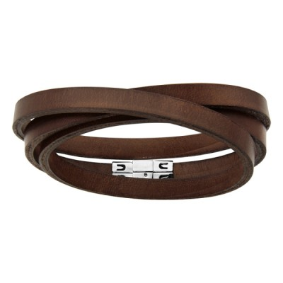 Bracelet acier et Cuir - Mode -