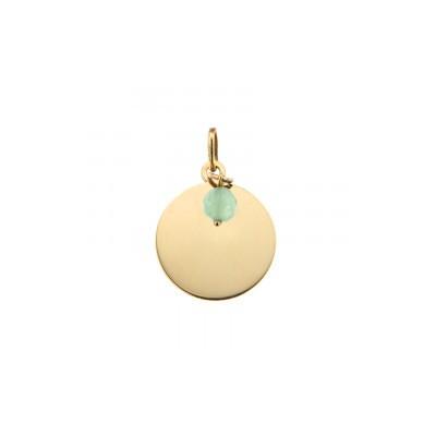 Médaille or 9 carats 375 - Pierre de Naissance - Août - 15 mm -